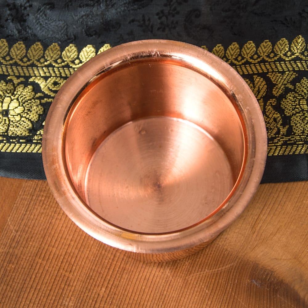 【祭壇用】銅製カップ 【直径:8cm】 3 - 中はこのようになっています。