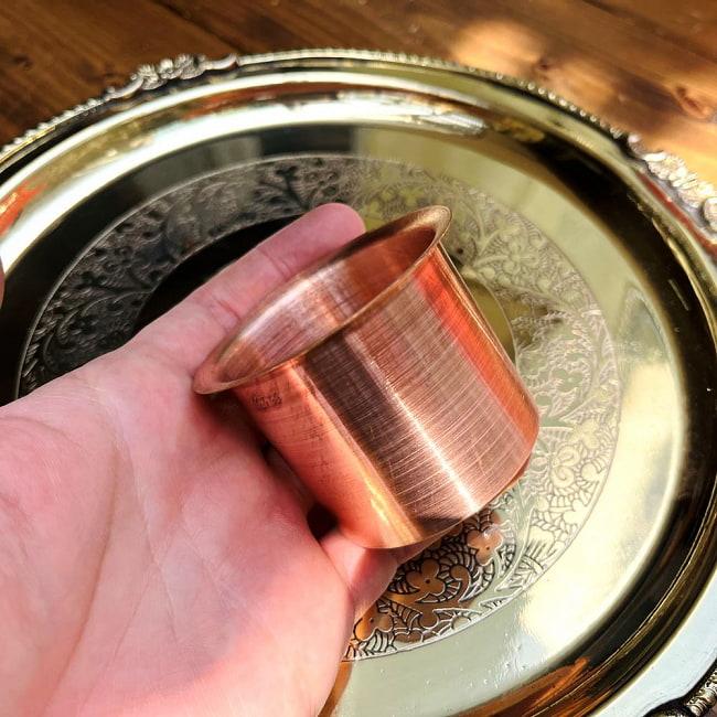 【祭壇用】銅製カップ 【直径:6cm】 5 - 銅製のスプーンと一緒に撮影しました