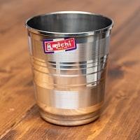 ステンレスのチャイカップ[直径:6.5cm x 高さ:8.5cm ]