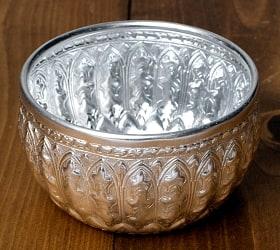 タイの飾りつきアルミボウル(中:10cm)