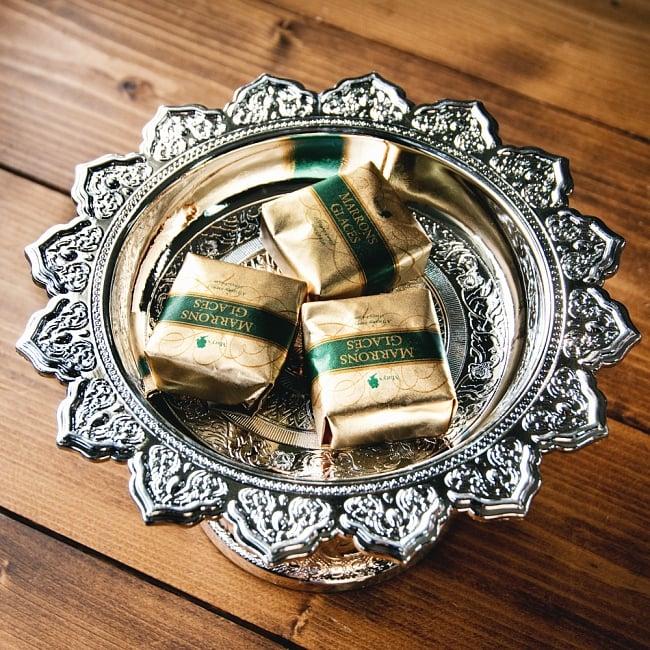 タイのお供え入れ 飾り皿 ゴールドとシルバー〔高さ:約10.5cm 直径:約20cm〕 8 - とても良い雰囲気です
