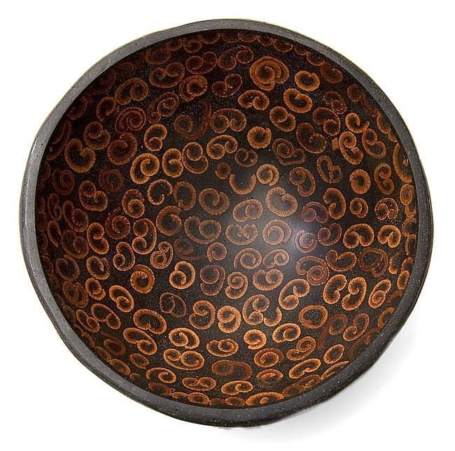 バリのシナモン飾り皿 2枚セットの写真2 - 上から撮影しました