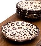 シナモンが香る飾り皿 丸小皿