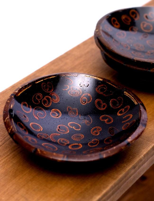 バリのシナモン飾り皿 丸小皿の写真