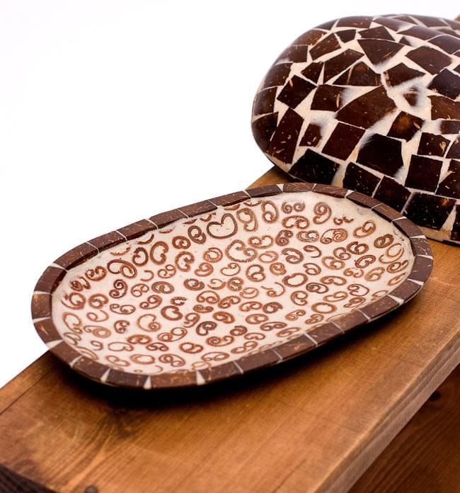 シナモンが香る飾り皿 楕円皿 の写真