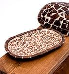 シナモンが香る飾り皿 楕円皿