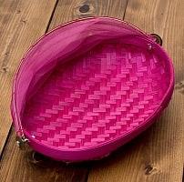 ネット付きアジアン籠 楕円・小  ピンク