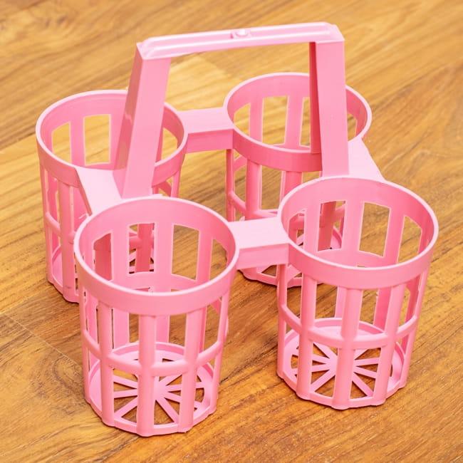 タイのプラ薬味入れ 8 - ピンク