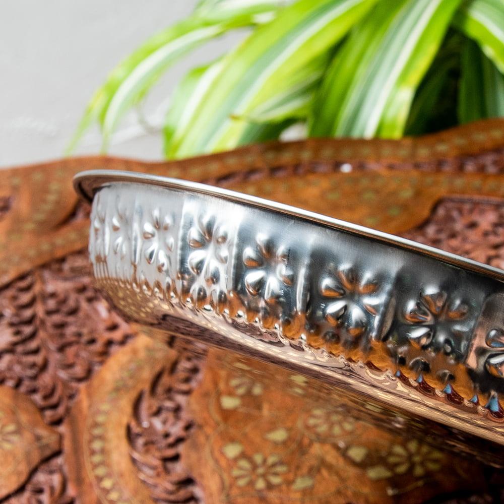 バリのアルミ飾り皿【直径:約25cm】 6 - 側面を撮影してみました