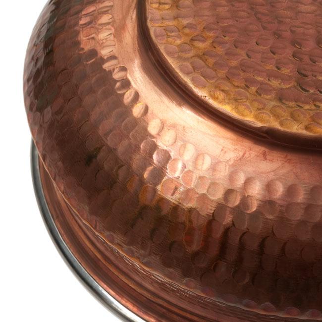 カダイ(直径:約23cm)の写真5 - 裏面は銅の打ち出しです