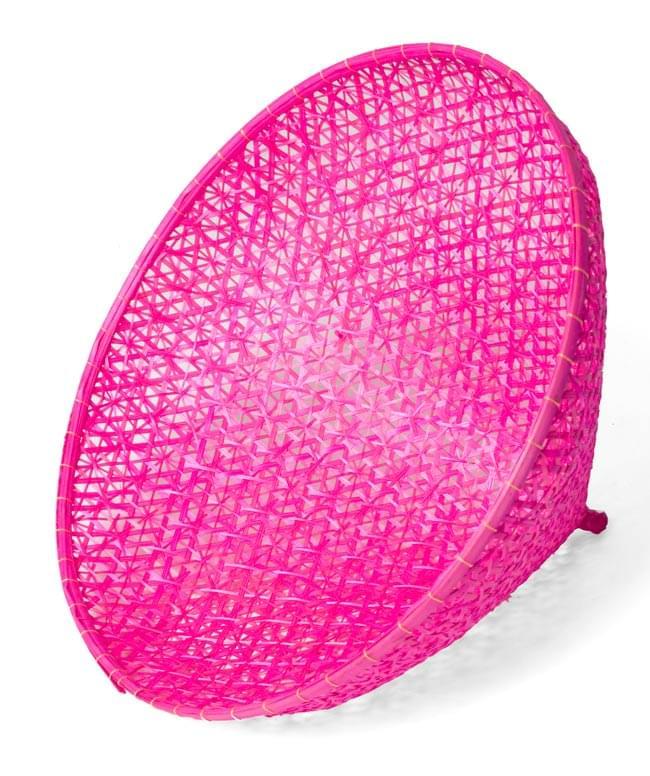 トンガリ帽子のバンブーフードカバー  【30.5cm】の写真2 - 内部まで美しいですね。