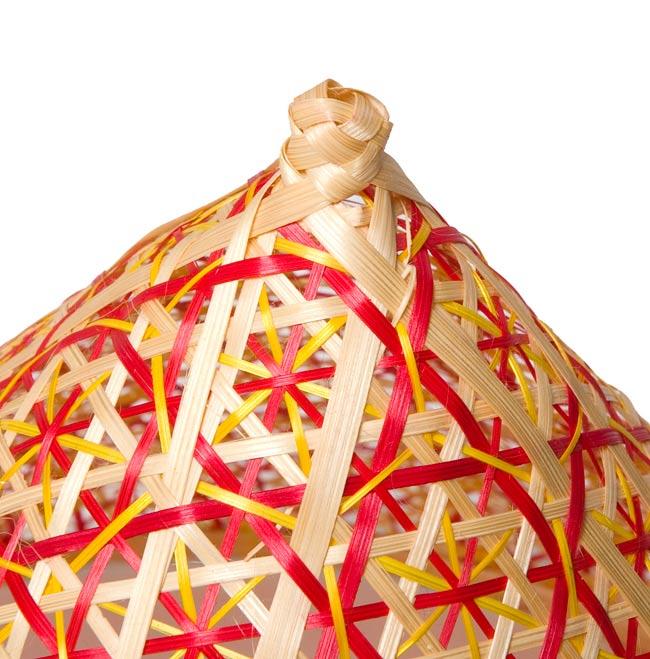 トンガリ帽子のバンブーフードカバー  【30.5cm】の写真4 - トンガリカバーの先部分はこんな感じです。(こちらは色違いの商品です)