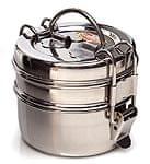 2段インド弁当箱 【少し小盛りサイズ 直径:約10cm 高さ:約8.5cm】