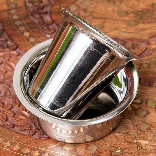 南インドのコーヒーカップとソーサーセット〔直径:約9.2cm〕 3 - コーヒーカップの写真です
