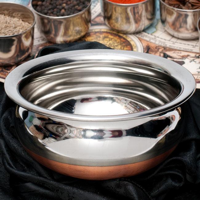 ハンディ - インドの鍋【直径約16.5cm】の写真