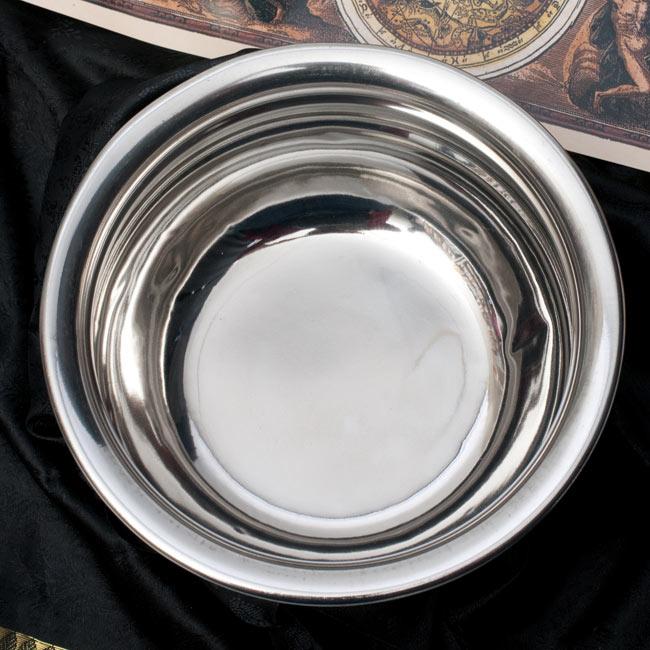 ハンディ - インドの鍋【直径約18.3cm】 2 - 上からの写真です