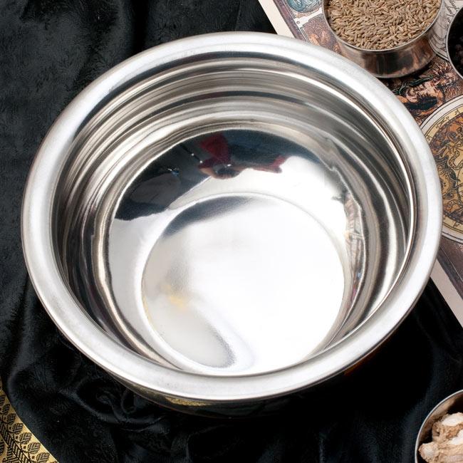 ハンディ - インドの鍋【直径約20cm】 2 - 上からの写真です