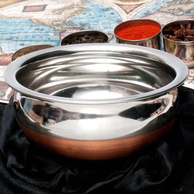 ハンディ - インドの鍋【直径約20cm】の写真