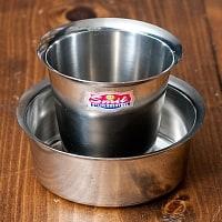 南インドのコーヒーカップとソーサーセット〔直径:約9.6cm〕