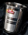 ステンレスのチャイカップ [中:直径約7cm×高さ約7cm]
