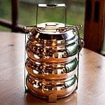 【3段】インドの弁当箱 ベーグル型[21cm]