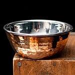 インドの銅装飾 フィンガーボウル・高級カトリ【高さ:4.5cm×直径:11.5cm】