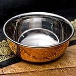 インドの銅装飾 高級カトリ【高さ:3.5cm×直径:8.5cm】