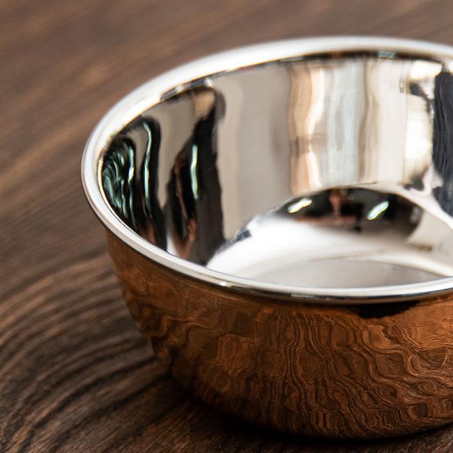 インドの銅装飾 高級カトリ【高さ:3cm×直径:8.5cm】の写真3 - 側面を見てみました。