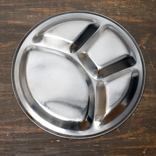 分割カレー丸皿【34cm】 4 - 裏面はシンプル。洗い物が楽ちんです。