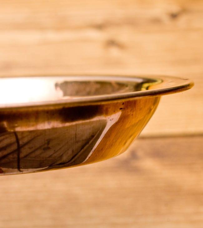【祭壇用】銅製カトリ(小皿) 【直径:約8cm】 4 - 縁のぶぶんをみてみました。