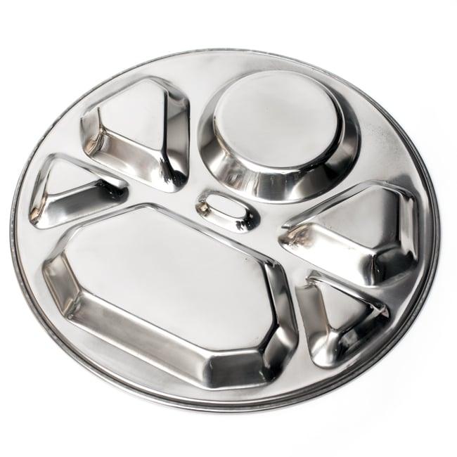 7分割カレー丸皿 ダイヤモンド[直径約32cm]の写真6 - 裏面の様子です。シンプルな形状なのでお手入れも楽ちんです。