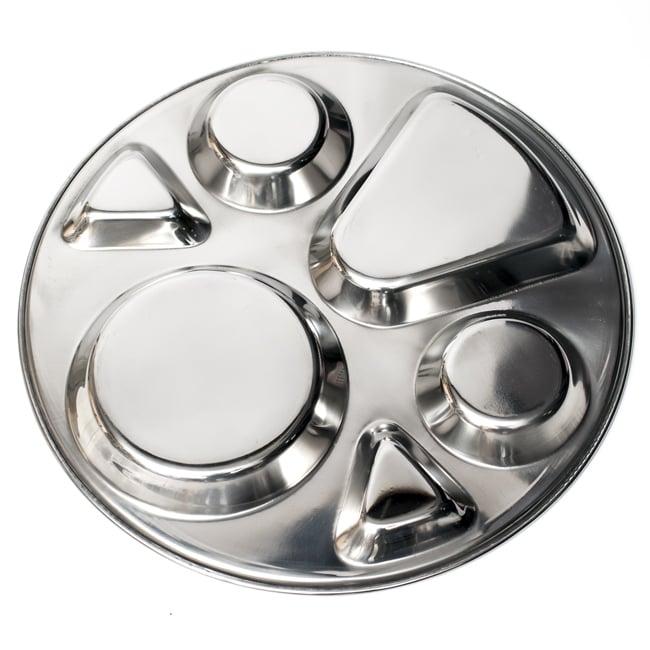 6分割カレー丸皿[直径約32.5cm]の写真6 - 裏面の様子です。シンプルな形状なのでお手入れも楽ちんです。