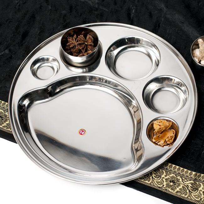 6分割カレー丸皿[直径約32cm]の写真