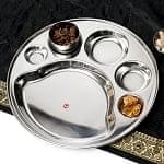 6分割カレー丸皿[直径約32cm]