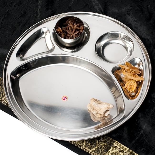 5分割カレー丸皿[直径約32.5cm]の写真