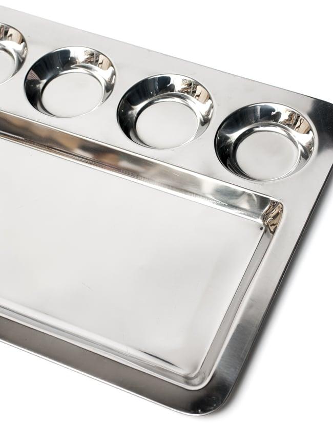 5分割ランチプレート ドーサ[約41.5cm x 32cm]の写真5 - 色々な料理を盛りつけてお楽しみください!