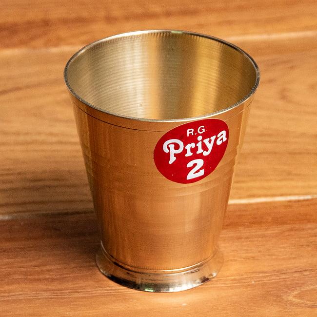 インドの礼拝用ブラス カップ[5.7cm]の写真