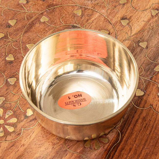 インドの礼拝用 ブラスボウル[6cm] 3 - 中はこのようになっております