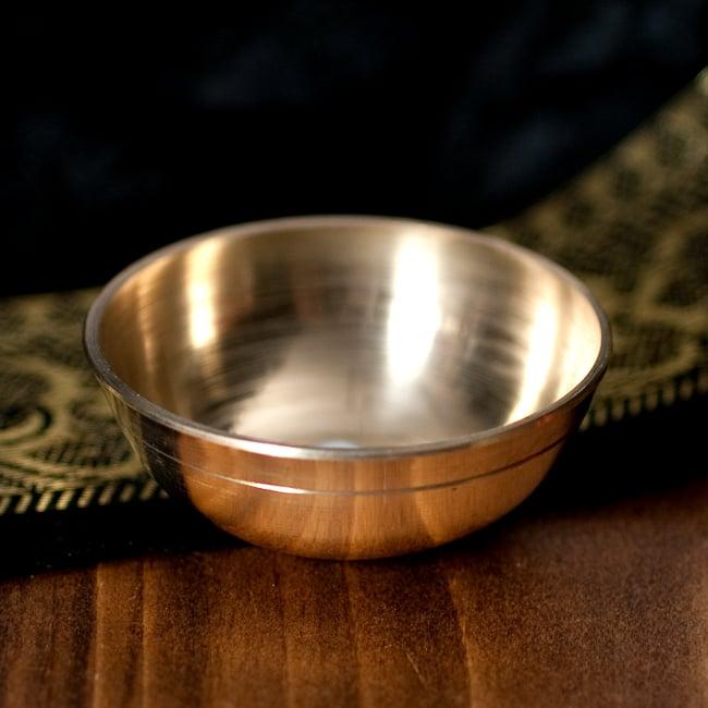 インドの礼拝用 ブラスボウル[約5.5cm]の写真