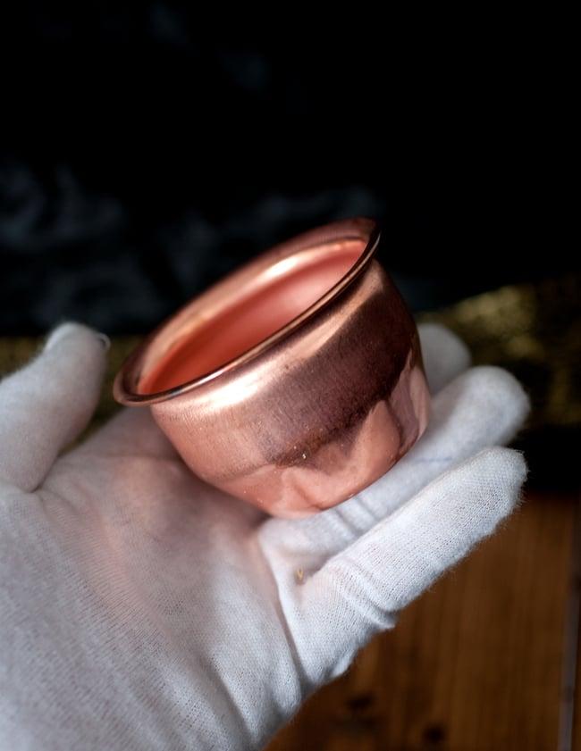 【祭壇用】銅製カップ 【直径:約4.3cm】 6 - このくらいのサイズ感になります