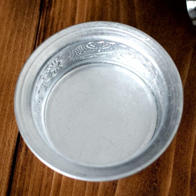 南インド式 コーヒーソーサーとコースターセット[アップサイクル品] 【直径:約6.4cm】の写真4 - 上からの写真です