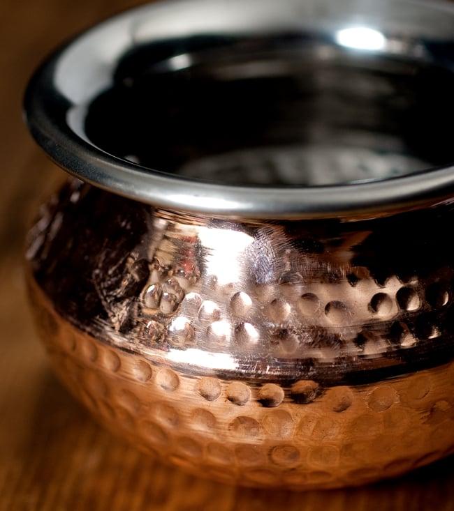 高級ハンディカダイ - インドの鍋【直径12cm】 2 - 拡大写真です
