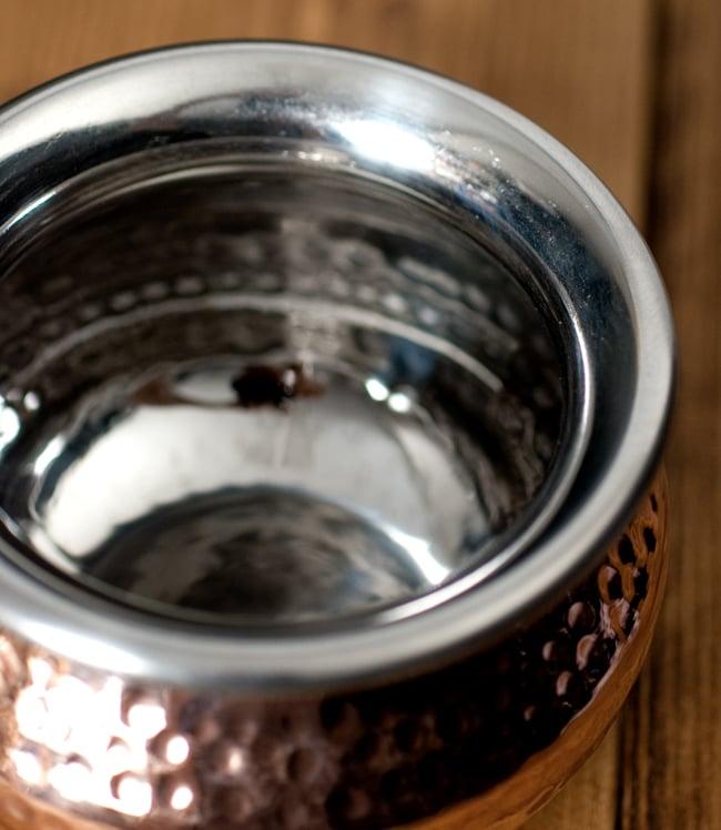 高級ハンディカダイ - インドの鍋【直径10.5cm】 3 - フチの写真です
