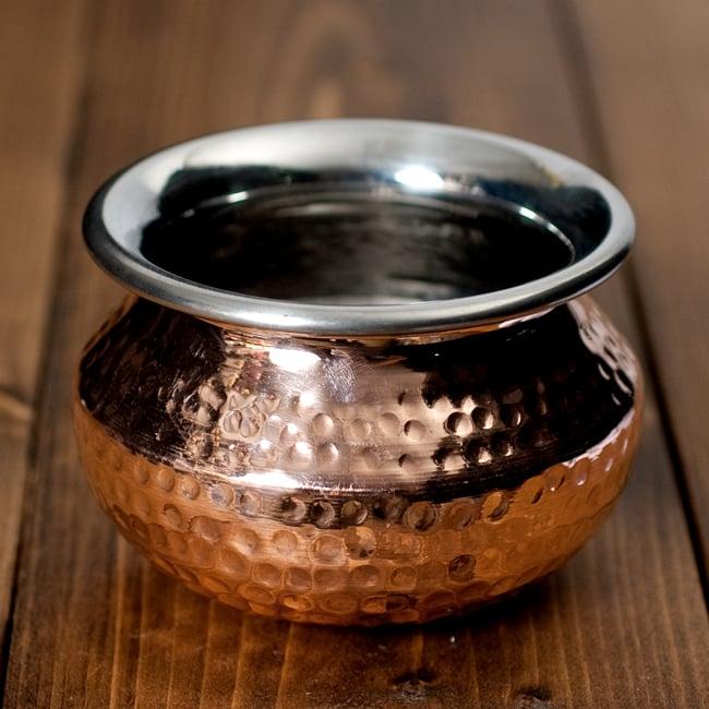高級ハンディカダイ - インドの鍋【直径10.5cm】の写真