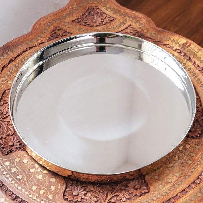 槌目付き 銅装飾のロイヤルターリー(カレー大皿:直径約31cm) 2 - 豪奢な装飾が美しいです。