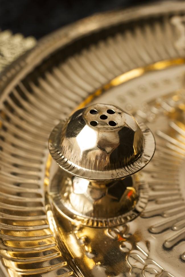 【祭壇用】礼拝皿 香立て・オイルランプ付き【直径:約25cm】 3 - お香立てです。