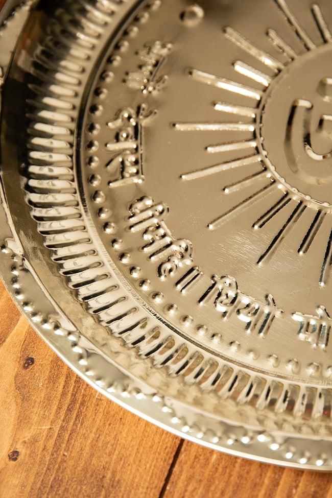 【祭壇用】オーンの礼拝皿 【直径:約30cm】 3 - 縁の部分の様子です。