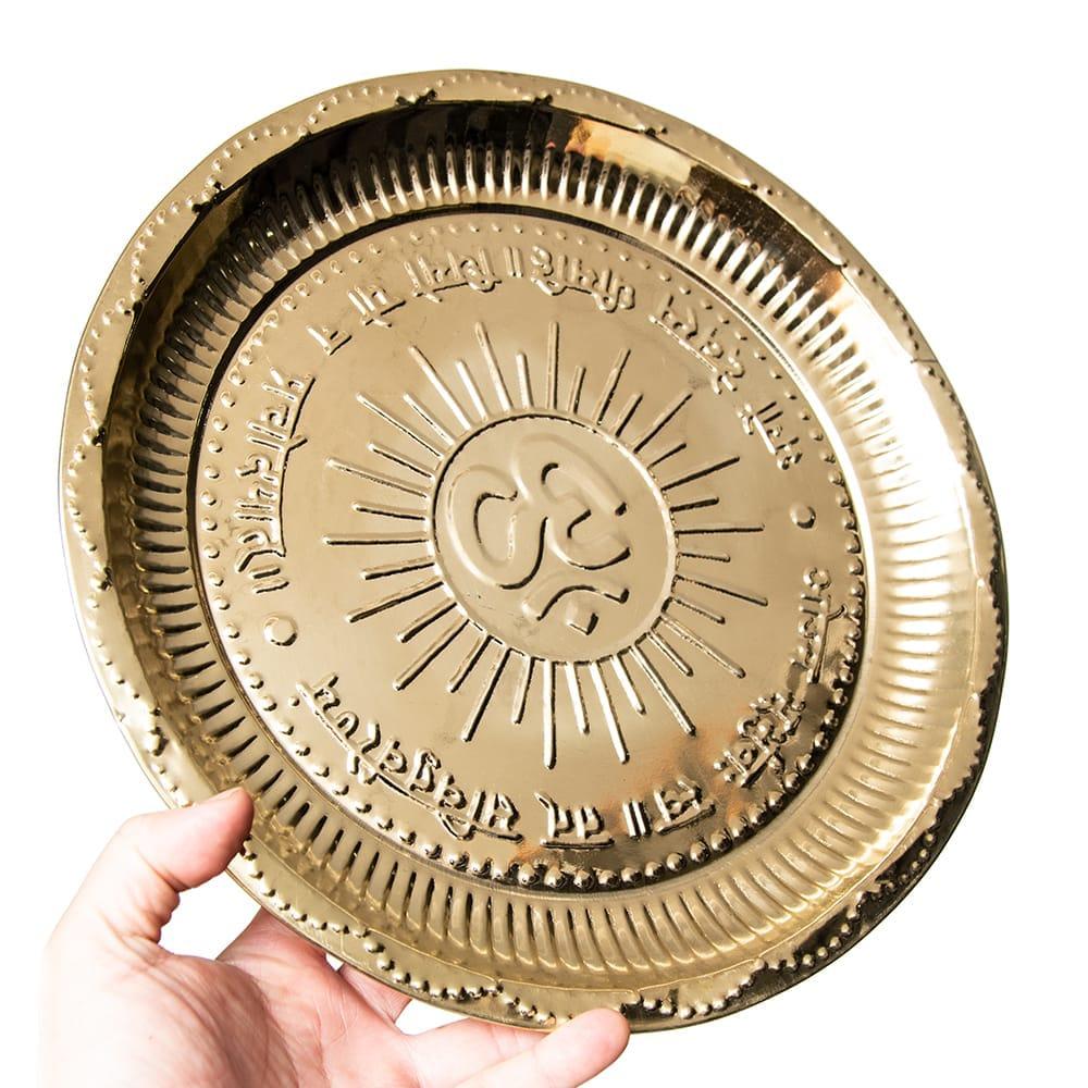 【祭壇用】オーンの礼拝皿 【直径:約30cm】 6 - 祭壇周りの飾り付けにどうぞ。