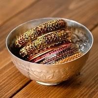 インド伝統唐草エンボスの小物入