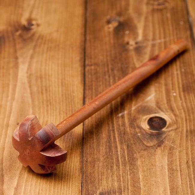 ラッシー用 木製ハンドミキサー 3 - ラッシー専用ですが、他のお菓子作りなどにも